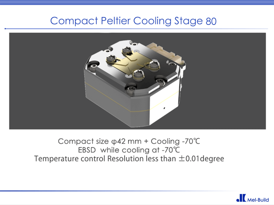 Peltier Cooling stage 80 Transformation / EBSD